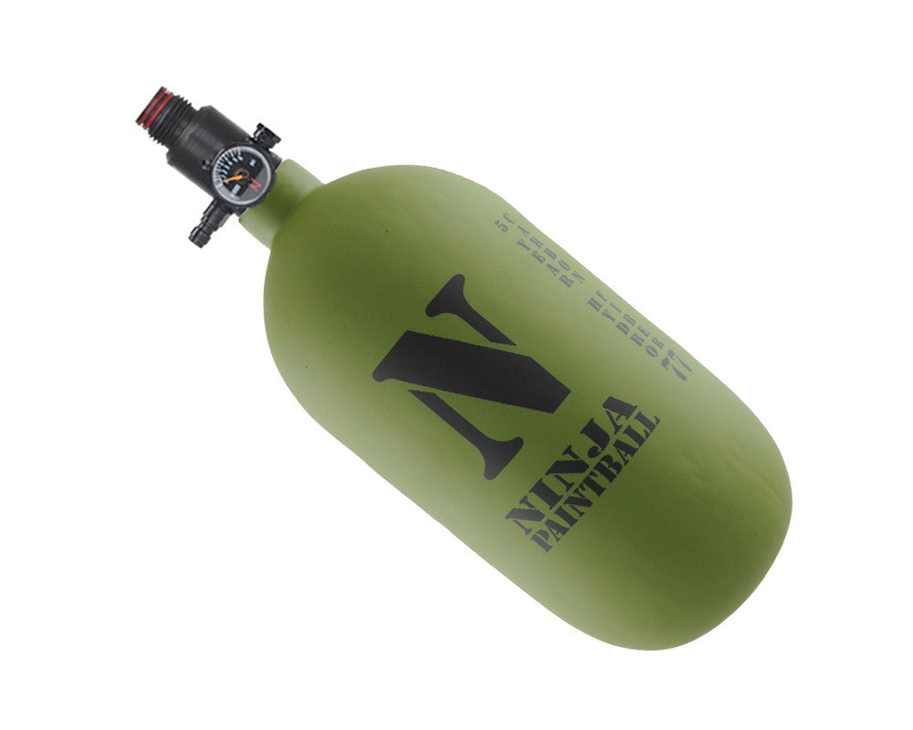 Ninja Dura Carbon Fiber Air Tank w/ Adjustable Regulator - 77/4500 - Olive Drab