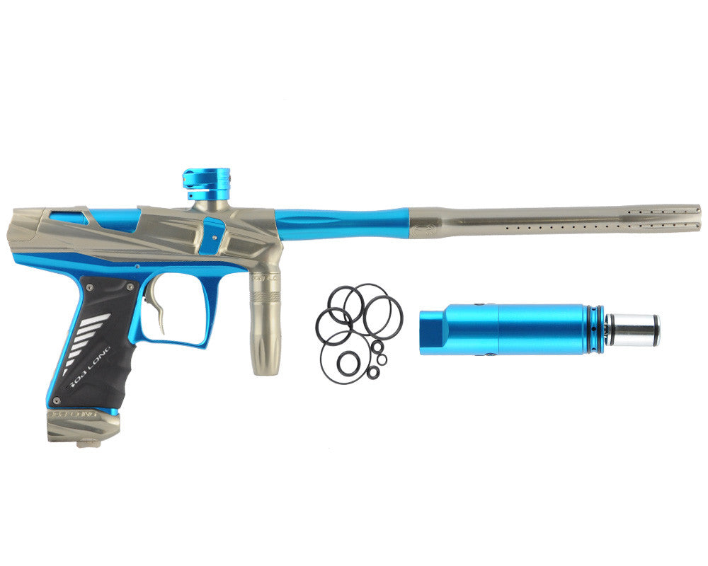 Bob Long Victory V-COM Paintball Gun - Khaki/Teal