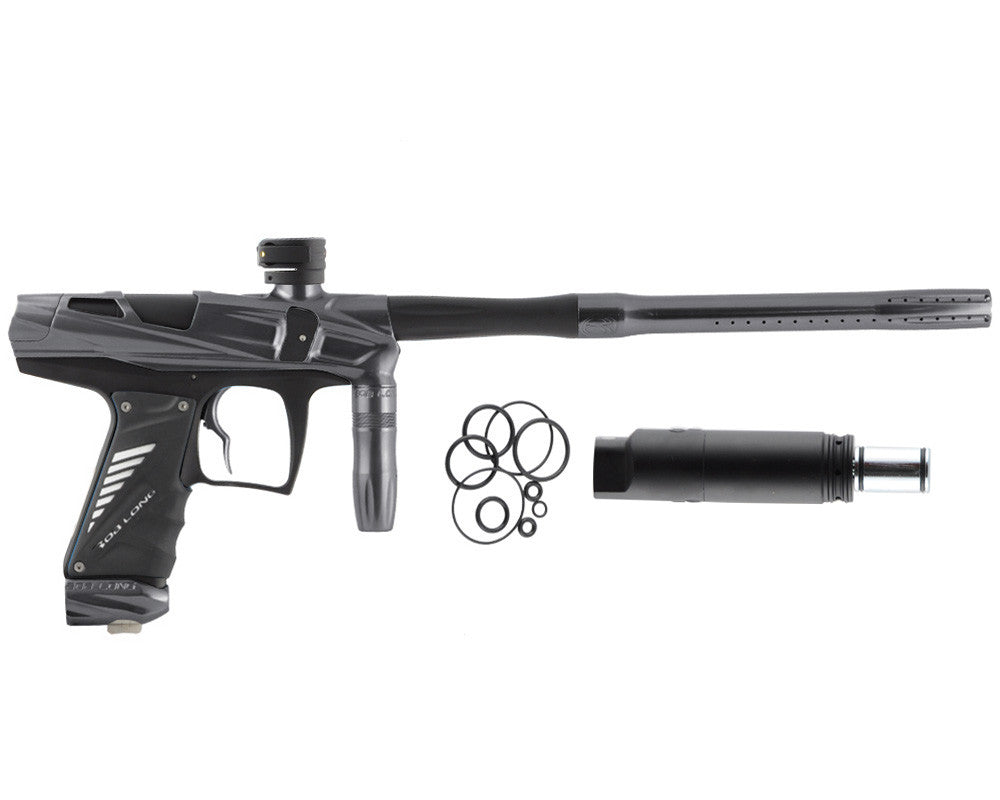 Bob Long Victory V-COM Paintball Gun - Titanium/Dust Black