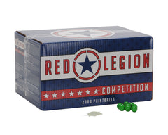 Red Legion Paintballs Case 100 Rounds - White Fill