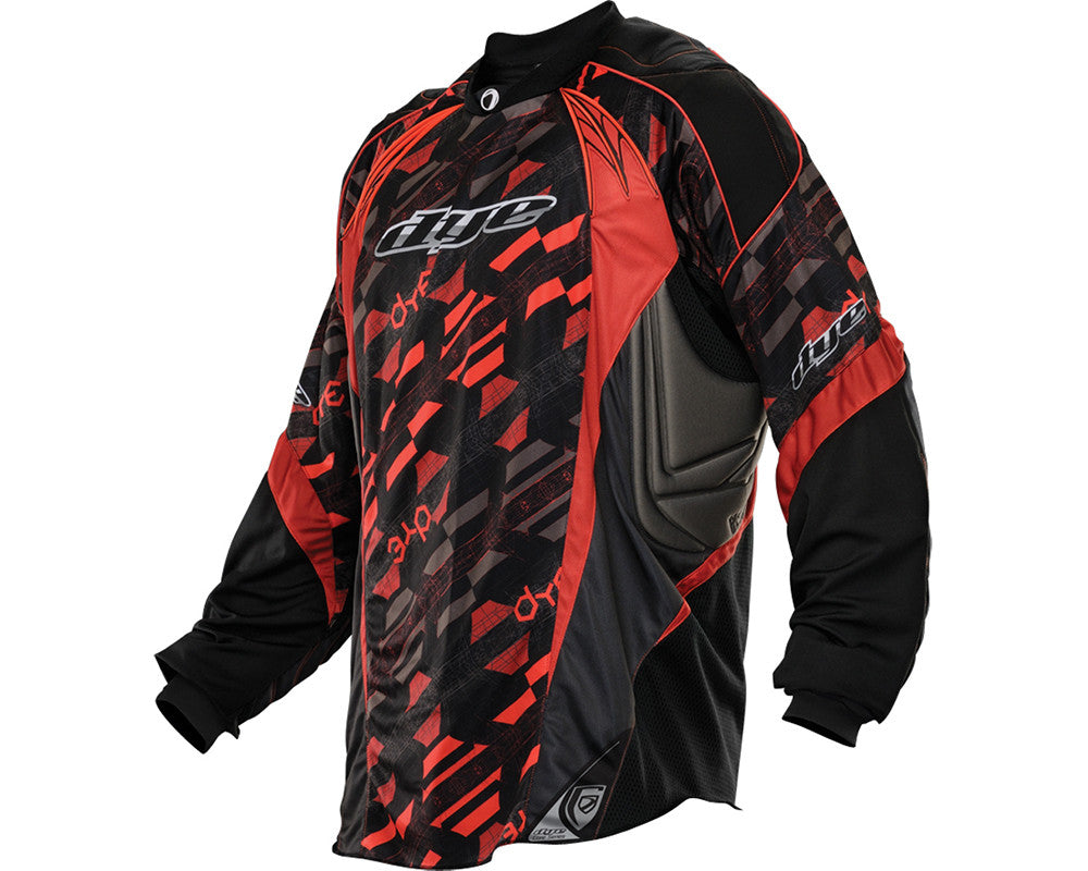 2013 Dye C13 Paintball Jersey - Cubix Red