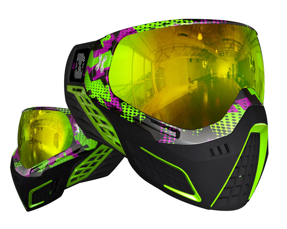 HK Army KLR Paintball Mask - Neon Blocks