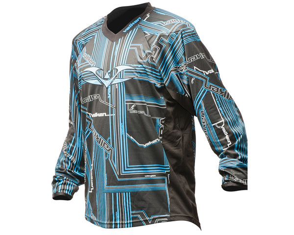 2012 Valken Crusade Paintball Jersey - Tron Blue