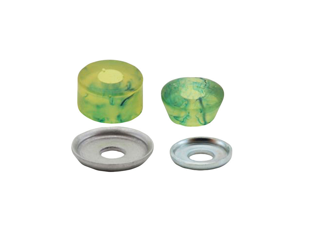 Tracker Superball - Green Swirl - 95a -Skateboard Bushings (2 PC)