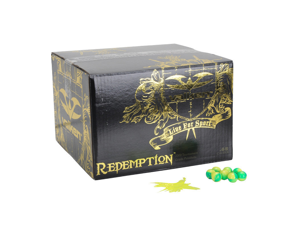Valken Redemption Paintball Case 100 Rounds - Yellow Fill