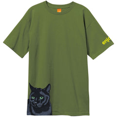 Enjoi Black Cat Premium - Military Green - Men's T-Shirt