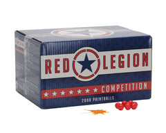 Red Legion Paintballs Case 500 Rounds - Orange Fill