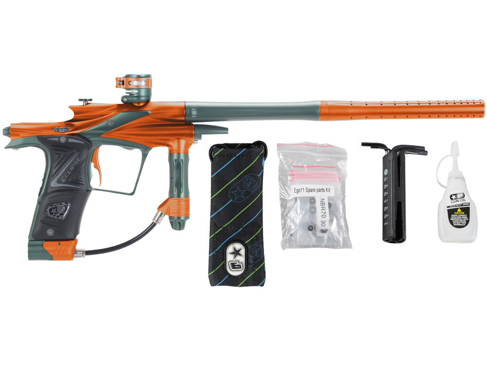 Planet Eclipse 2011 Ego Paintball Gun - Orange/Forest Green
