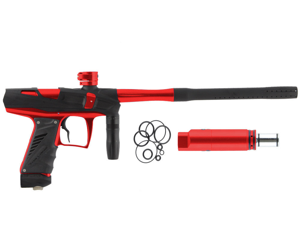 Bob Long Victory V-COM Paintball Gun - Dust Black/Red