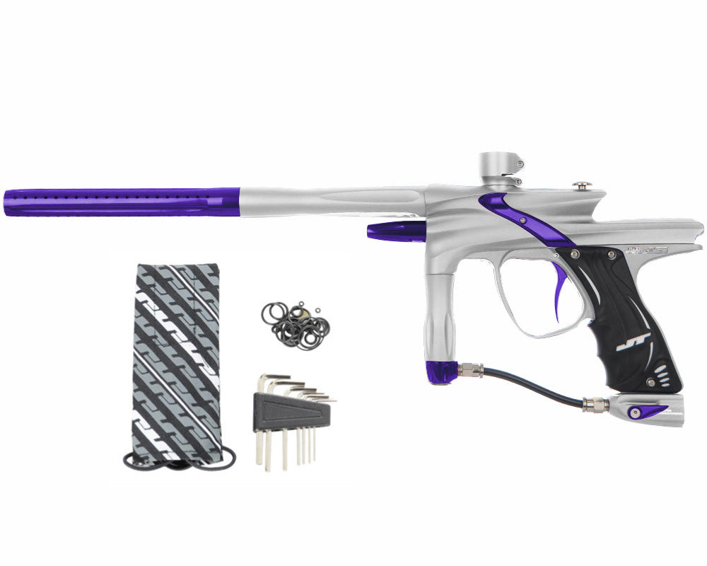 JT Impulse Paintball Gun - Dust Silver/Purple