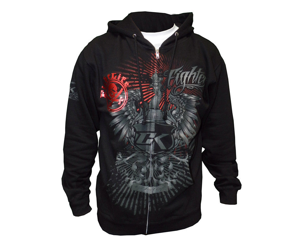 Contract Killer Predator Zip Up Hoody - Black