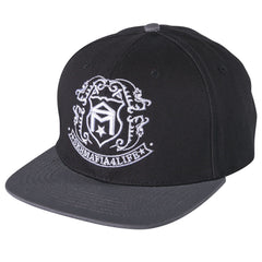 Sk8mafia Premium Adjustable Shield Snapback Wool - Black - Men's Hat