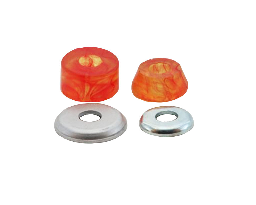 Tracker Superball - Orange Swirl - 88a - Skateboard Bushings (2 PC)