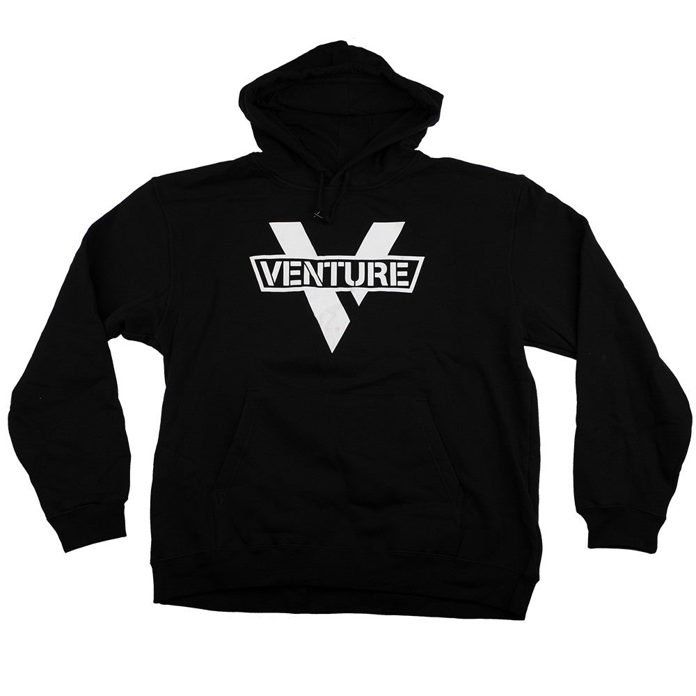 Venture Mainstay P/O Hooded - Black/White - Men's Sweatshirt
