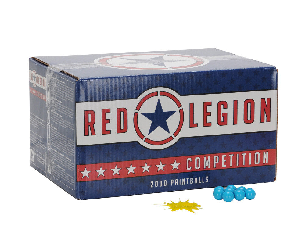 Red Legion Paintballs Case 1000 Rounds - Yellow Fill