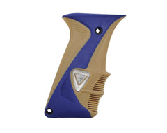 DLX Luxe Rubber Grips - Blue/Tan