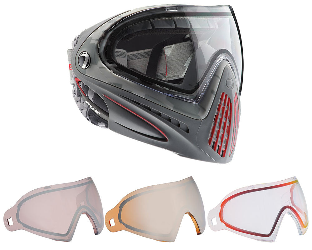 Dye Invision Goggle I4 Pro Mask w/ Free Lens - Airstrike Red