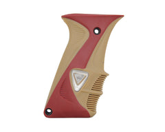 DLX Luxe Rubber Grips - Red/Tan