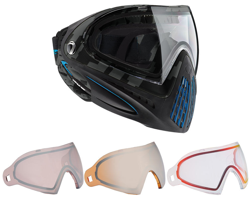 Dye Invision Goggle I4 Pro Mask w/ Free Lens - Airstrike Cyan