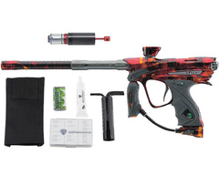 Dye DM13 Paintball Gun w/ CF Billy Wing Bolt - PGA Atlas Red/Orange