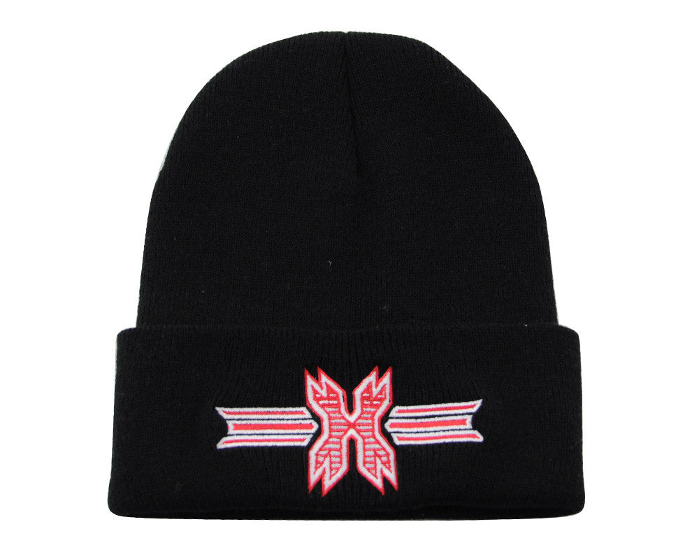 HK Army Icon Beanie - Black/Red Stitch