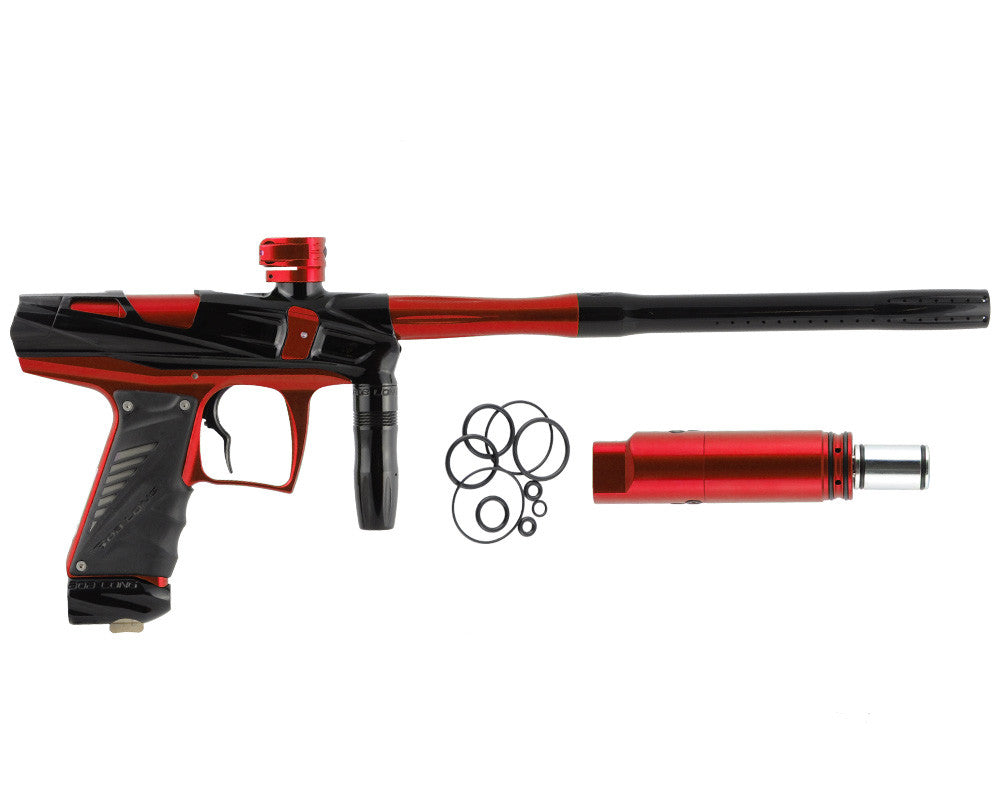 Bob Long Victory V-COM Paintball Gun - Black/Red