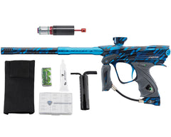 Dye DM13 Paintball Gun w/ CF Billy Wing Bolt - PGA Cubix Cyan