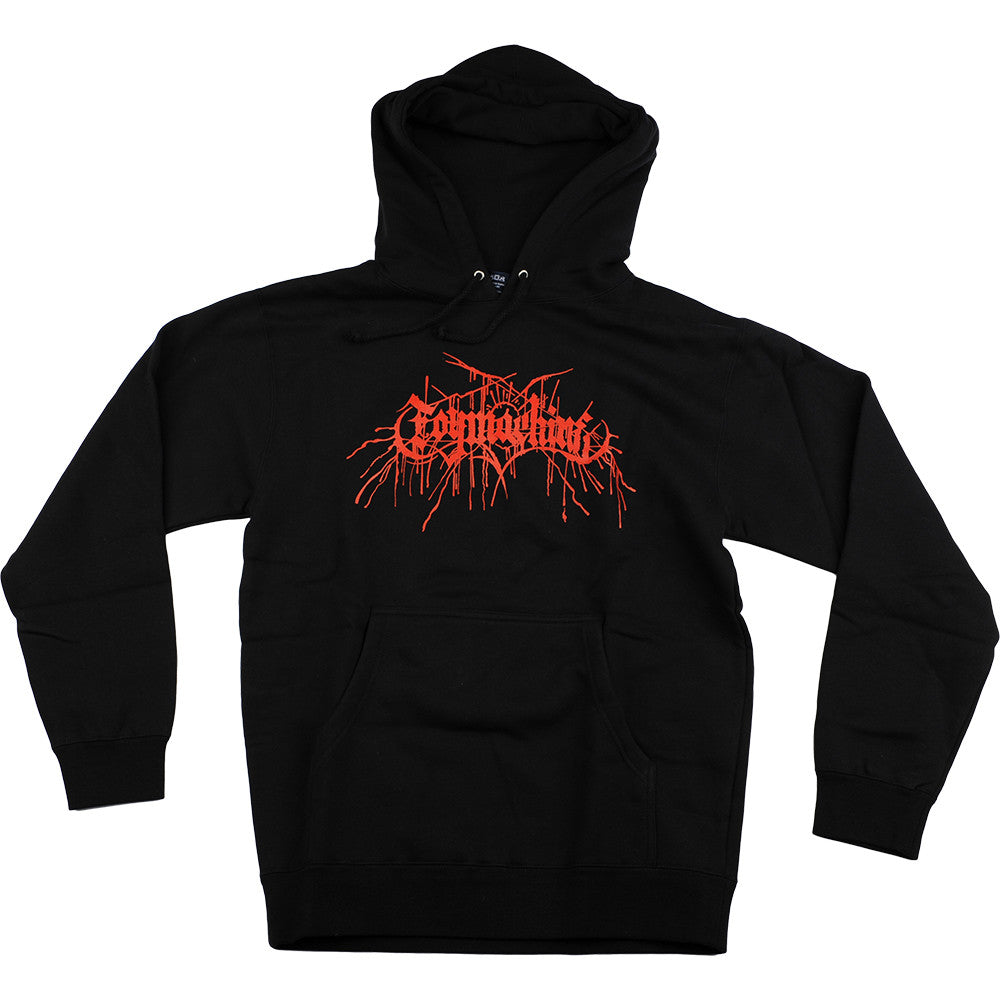Toy Machine Death Metal P/O Hooded - Black/Red - Men's Sweatshirt