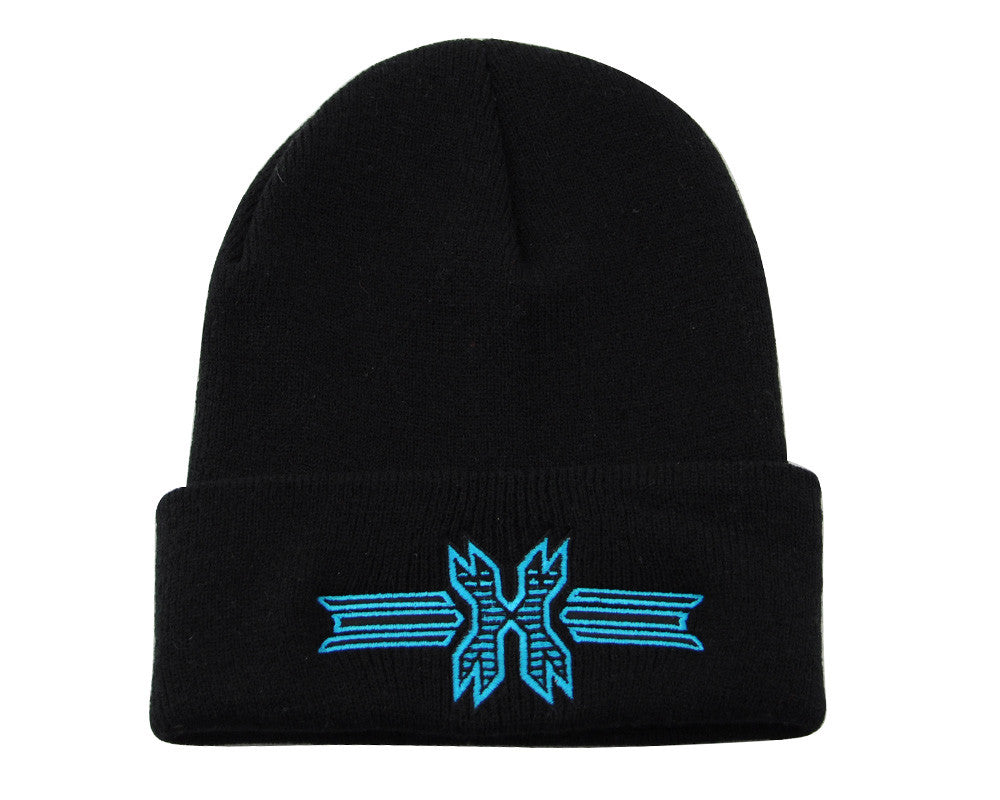 HK Army Icon Beanie - Black/Teal Stitch