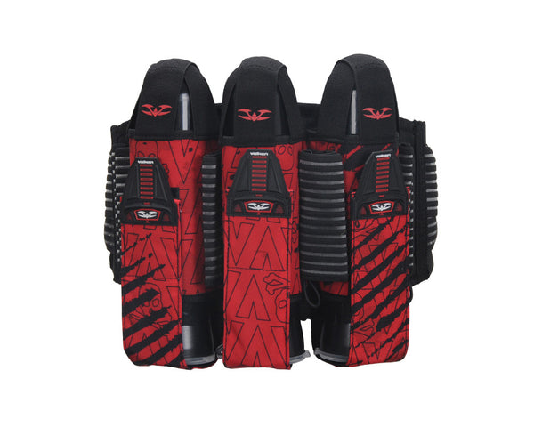 2013 Valken Redemption Paintball Harness 3+6 - Red Scar