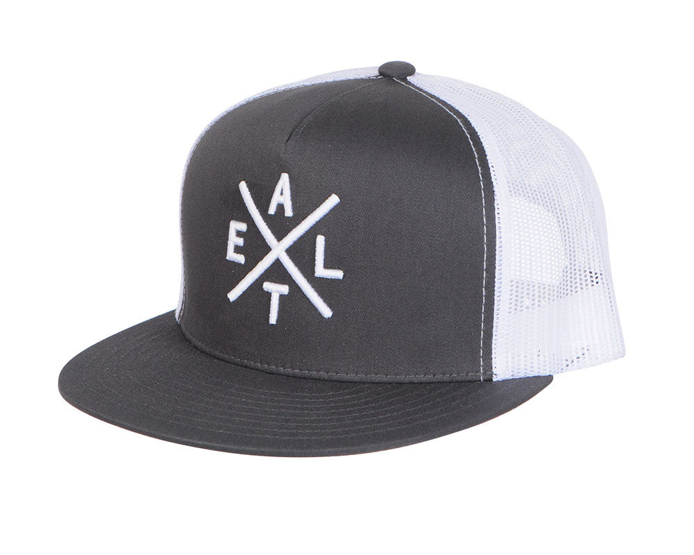 Exalt Trucker Crossing Hat - Black/White