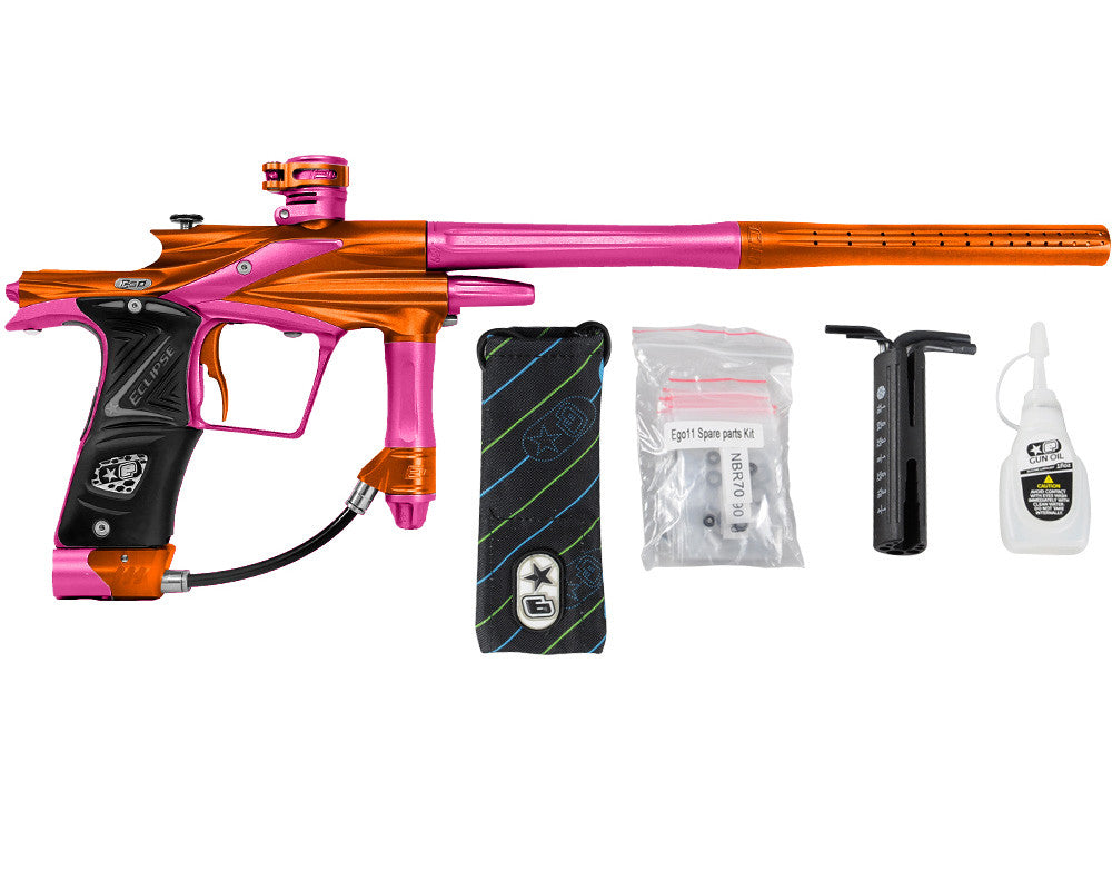Planet Eclipse 2011 Ego Paintball Gun - Orange/Dust Pink