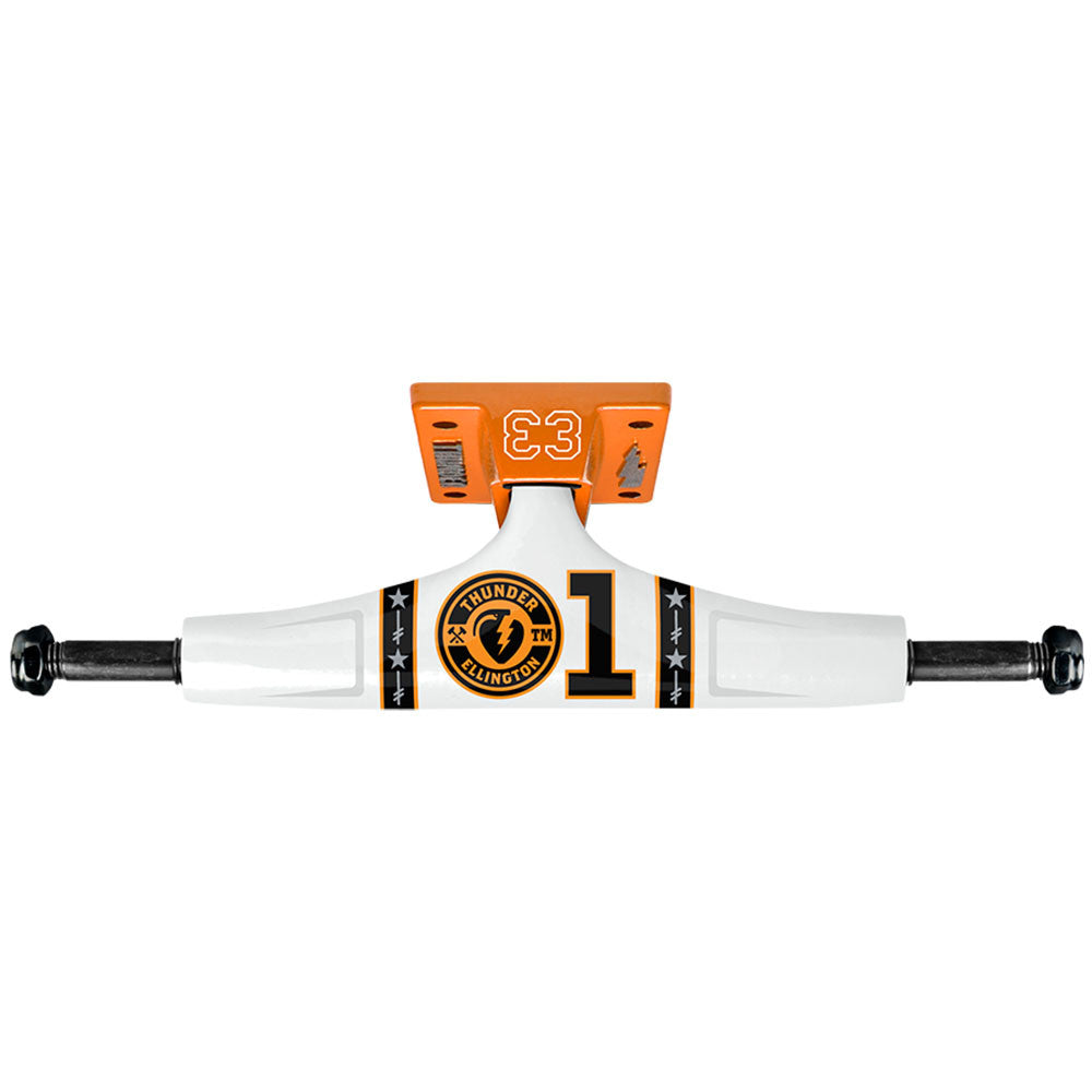 Thunder Ellington General E4 High - White/Orange - 145mm - Skateboard Trucks (Set of 2)