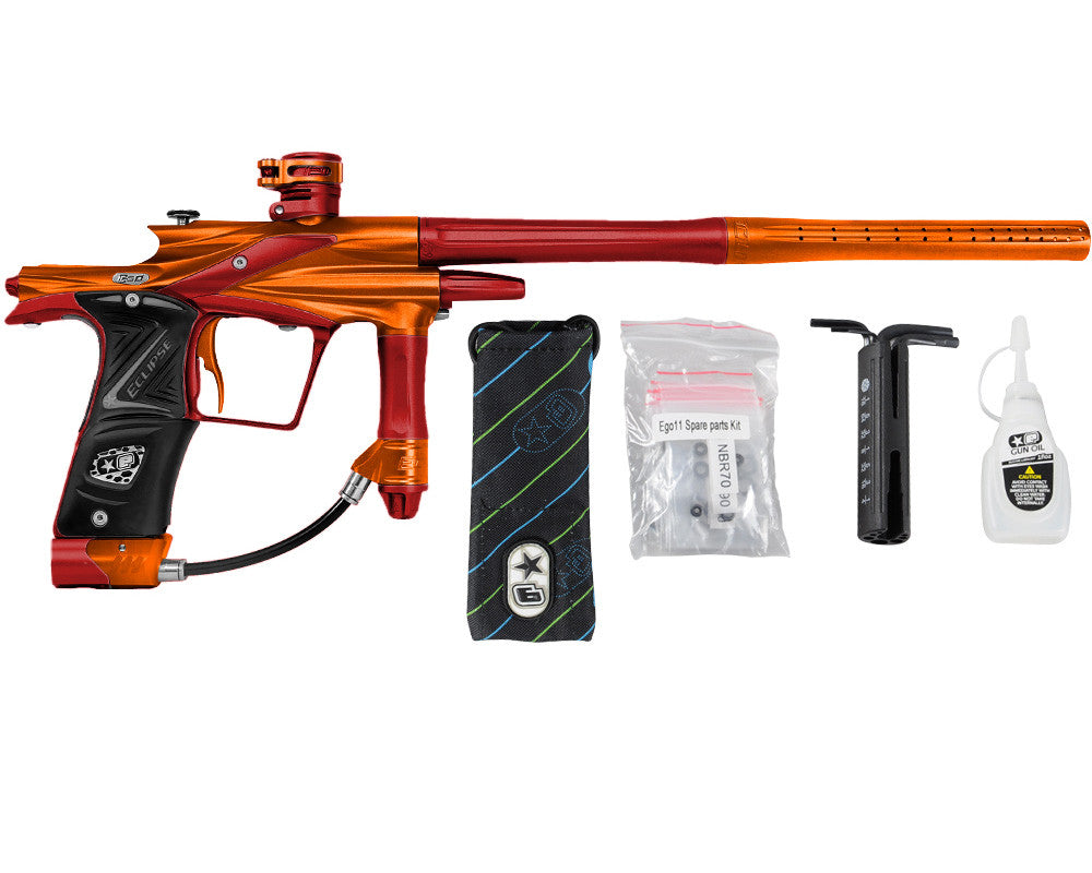 Planet Eclipse 2011 Ego Paintball Gun - Orange/Dark Lava