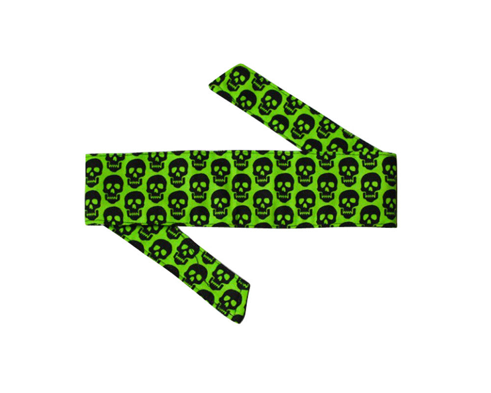 HK Army Headband - Mini Skull Green