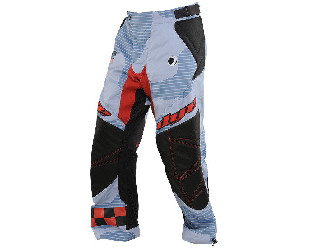 2014 Dye C14 Paintball Pants - Bomber Blue/Red