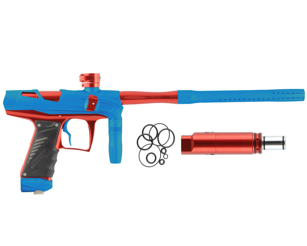 Bob Long Victory V-COM Paintball Gun - Dust Teal/Red
