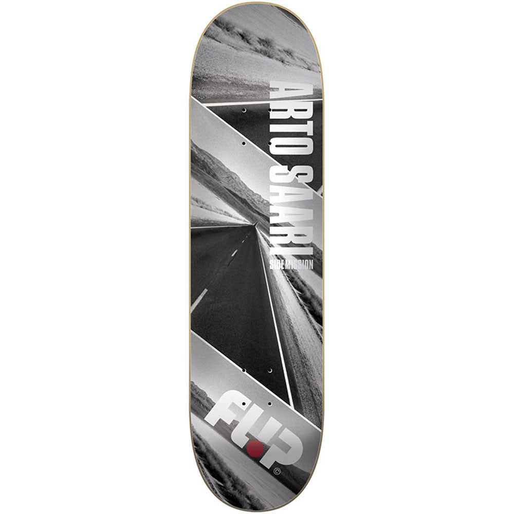 Flip Saari Side Mission Death Valley - Grey - 8.5in x 32.88in - Skateboard Deck