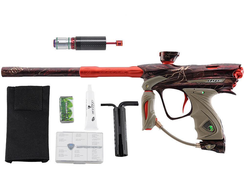 Dye DM13 Paintball Gun w/ CF Billy Wing Bolt - PGA Dyetree Camo