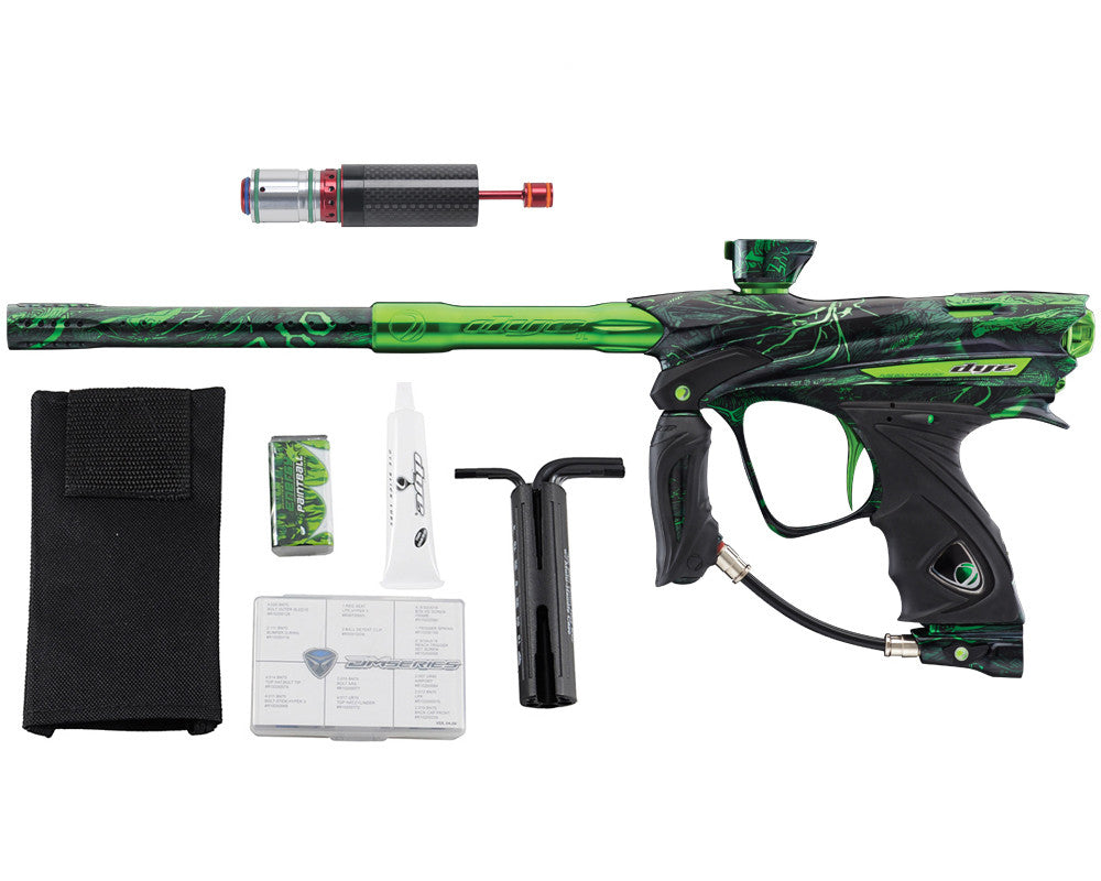 Dye DM13 Paintball Gun w/ CF Billy Wing Bolt - PGA Dyetree Lime