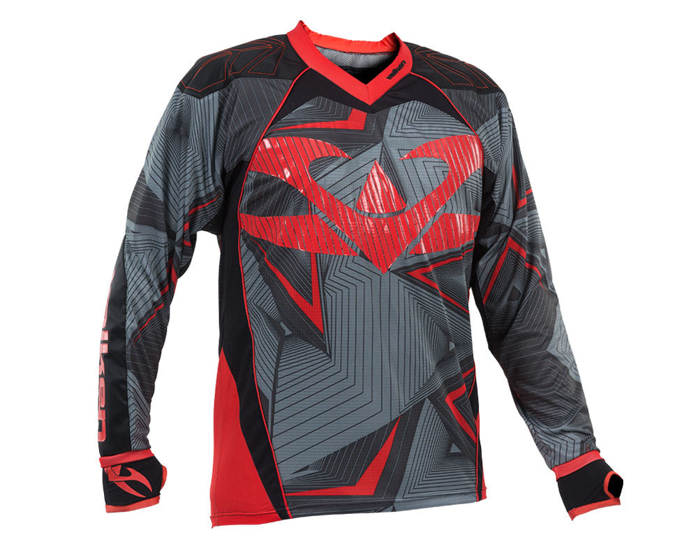 2015 Valken Redemption Vexagon Paintball Jersey - Red/Grey
