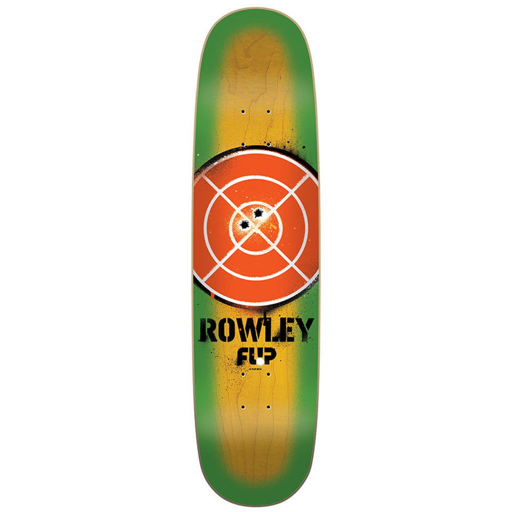 Flip Rowley Pistol - Green/Natural - 8.35in x 31.25in - Skateboard Deck