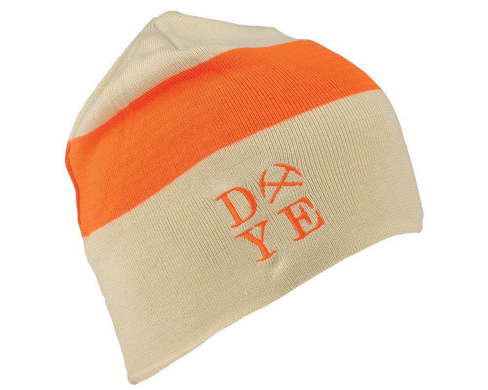 2014 Dye 3AM Beanie - Tan/Hunter Orange