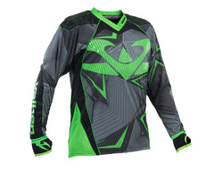 2015 Valken Redemption Vexagon Paintball Jersey - Neon Green/Grey