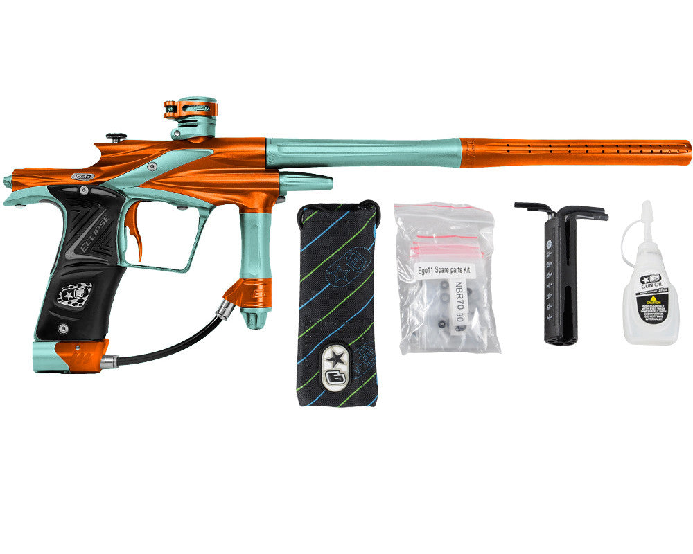 Planet Eclipse 2011 Ego Paintball Gun - Orange/Aqua