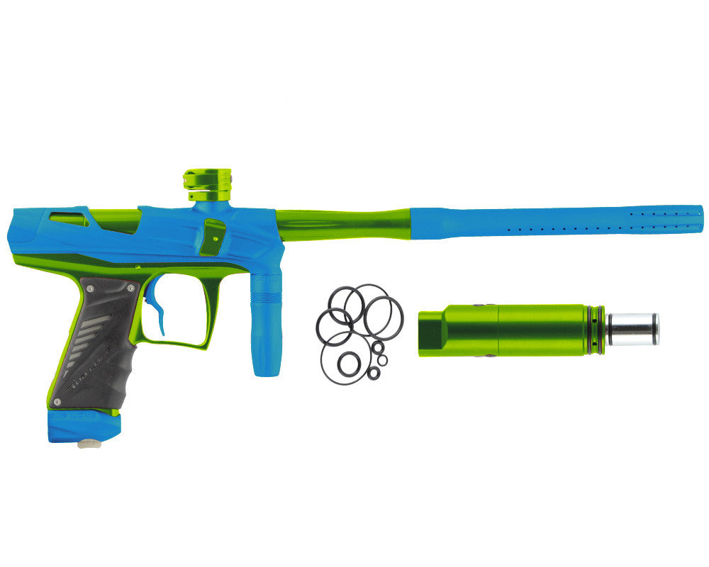 Bob Long Victory V-COM Paintball Gun - Dust Teal/Lime