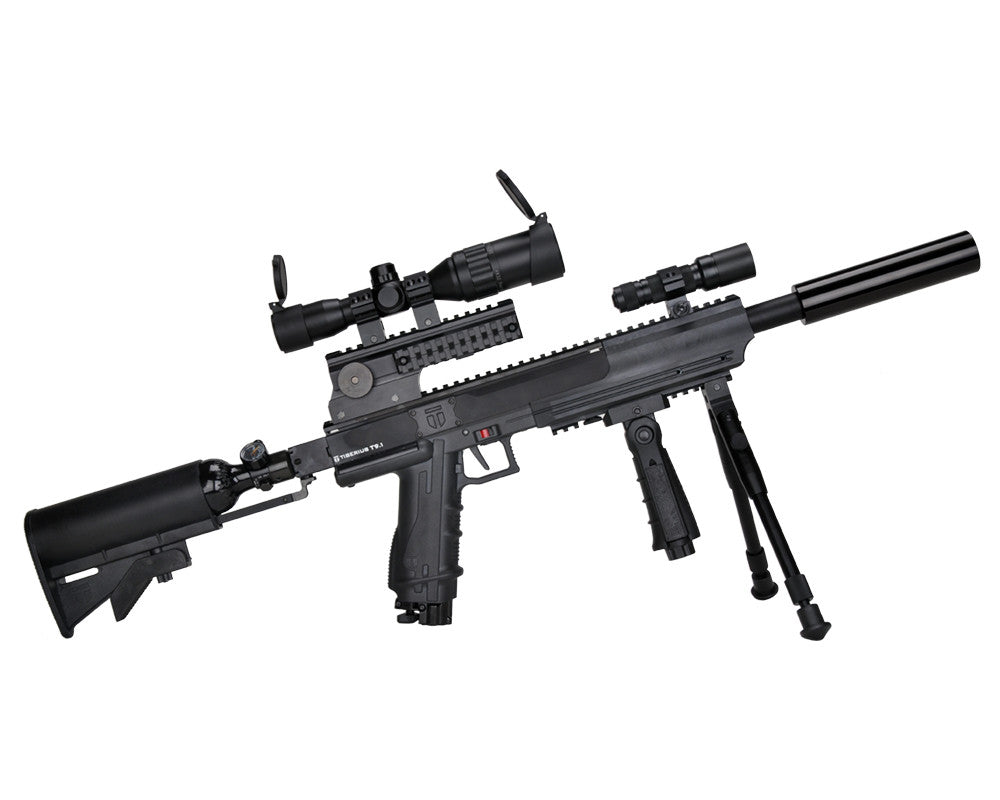 Tiberius Arms T9.1 First Strike Sniper Rifle Paintball Gun - Black