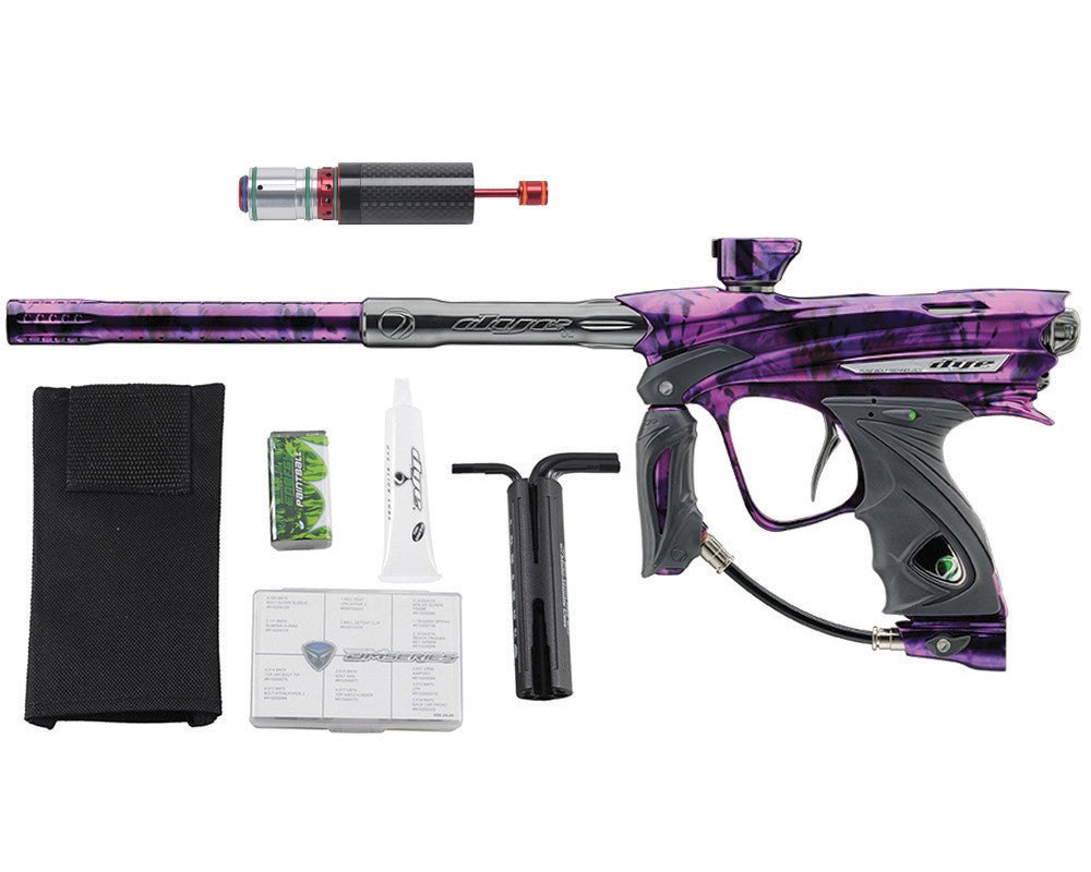 Dye DM13 Paintball Gun w/ CF Billy Wing Bolt - PGA Tie Dye Violet