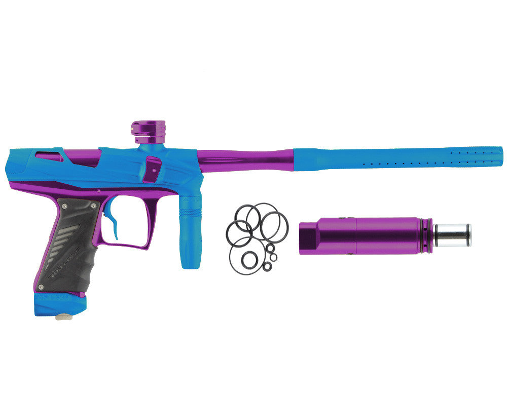 Bob Long Victory V-COM Paintball Gun - Dust Teal/Purple