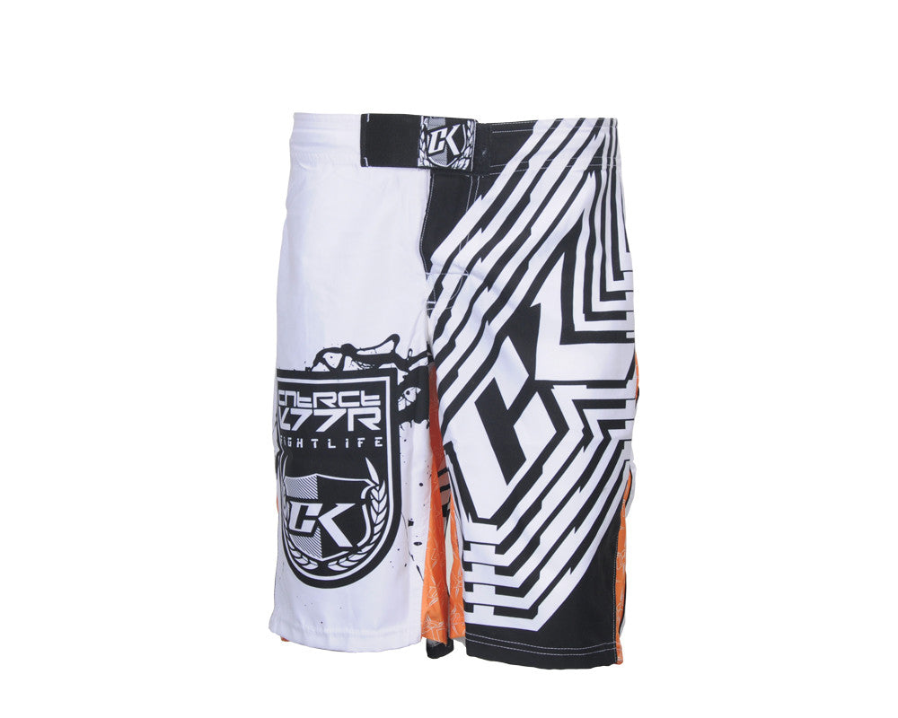 Contract Killer Orange Crush Shorts - White/Orange